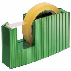 (まとめ) ライオン事務器 テープカッター(フリス)太巻用 50×175×105mm メタリックグリーン TC-20C 1台 【×5セット】