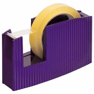 (まとめ) ライオン事務器 テープカッター(フリス)太巻用 50×175×105mm メタリックブルー TC-20C 1台 【×5セット】