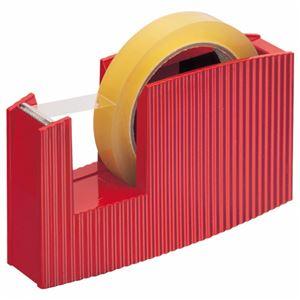 (まとめ) ライオン事務器 テープカッター(フリス)太巻用 50×175×105mm メタリックレッド TC-20C 1台 【×5セット】