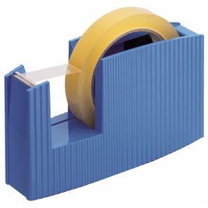 (まとめ) ライオン事務器 テープカッター(フリス)太巻用 50×175×105mm ブルー TC-20 1台 【×5セット】