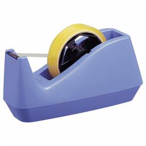 (まとめ) ライオン事務器 テープカッター大巻・小巻両用 85×208×110mm 青 No.25 1台 【×5セット】