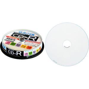 (まとめ)RITEK データ用CD-R 700MB1-52倍速 ホワイトワイドプリンタブル スピンドルケース CD-R700EXWP.10RT C1パック(10枚) 【×10セット】