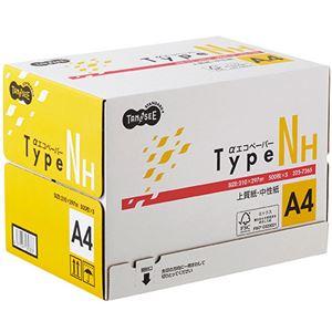 (まとめ)TANOSEE αエコペーパータイプNH A4 1箱(2500枚:500枚×5冊) 【×3セット】