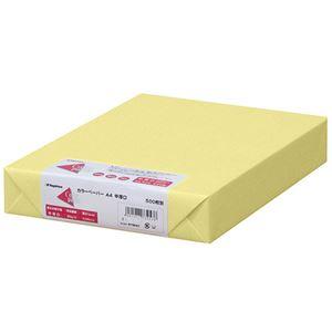 (まとめ)長門屋商店 Color Paper A4中厚口 クリーム ナ-3253 1冊(500枚) 【×3セット】