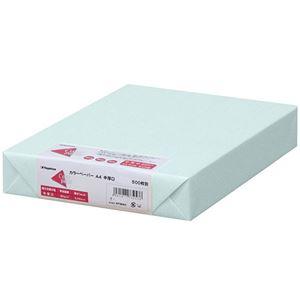 (まとめ)長門屋商店 Color Paper A4中厚口 水 ナ-3260 1冊(500枚) 【×3セット】