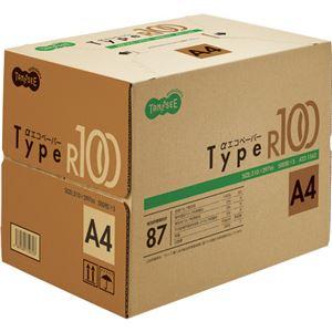 (まとめ)TANOSEE αエコペーパータイプR100 A4 1箱(2500枚:500枚×5冊) 【×3セット】