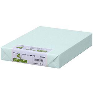 (まとめ)長門屋商店 Color Paper A4厚口 水 ナ-3360 1冊(500枚) 【×3セット】