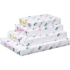(まとめ)TANOSEE αエコカラーペーパーIIB5 クリーム 1セット(2500枚:500枚×5冊) 【×2セット】