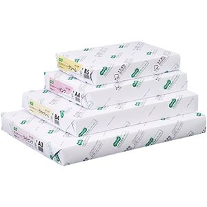 (まとめ)TANOSEE αエコカラーペーパーIIA4 ライトグリーン 1セット(2500枚:500枚×5冊) 【×2セット】