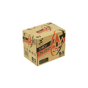 (まとめ)日本製紙 リボンフレンドリー B5RBNF-B5 1セット(2500枚:500枚×5冊) 【×2セット】