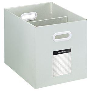 (まとめ)コクヨ サンプルボックス(ワイドタイプ)A4ヨコ 背幅256mm グレー A4-WFD-M 1個 【×5セット】