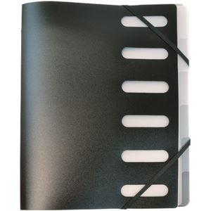 (まとめ)オフィスデポ インデックスホルダー A46山 ブラック 141987 1冊 【×10セット】
