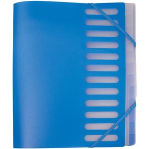 (まとめ)オフィスデポ インデックスホルダー A412山 ブルー 141988 1冊 【×10セット】