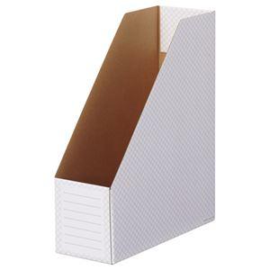 TANOSEEボックスファイル(ホワイト) A4タテ 背幅100mm グレー 1セット(50冊:10冊×5パック)