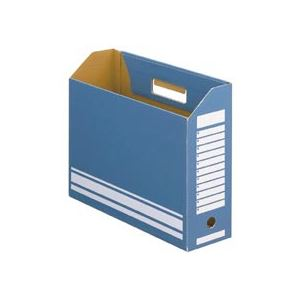TANOSEE ボックスファイルA4ヨコ 背幅100mm ブルー 1セット(50冊:10冊×5パック)