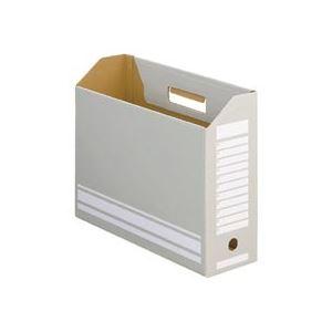 TANOSEE ボックスファイルA4ヨコ 背幅100mm グレー 1セット(50冊:10冊×5パック)