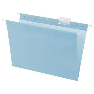 TANOSEE ハンギングフォルダーA4 ブルー 1セット(50冊:5冊×10パック)