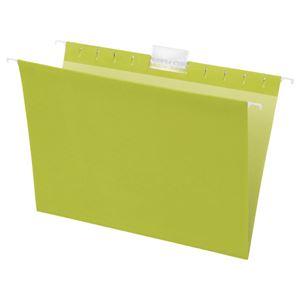 TANOSEE ハンギングフォルダーA4 グリーン 1セット(50冊:5冊×10パック)