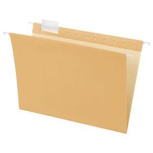TANOSEE ハンギングフォルダーA4 クリーム 1セット(50冊:5冊×10パック)