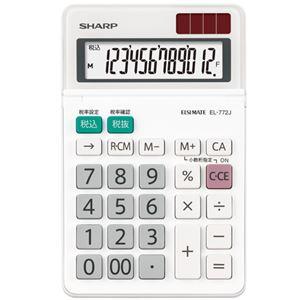 (まとめ)シャープ エルシーメイト電卓 12桁ミニナイスサイズ EL-772J-X 1台【×5セット】