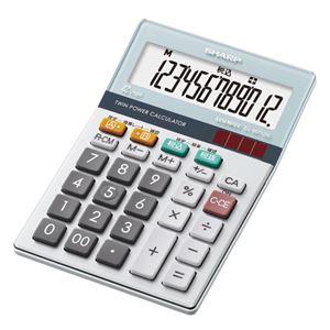 (まとめ)シャープ エルシーメイト電卓 12桁ミニナイスサイズ EL-M712K-X 1台【×5セット】