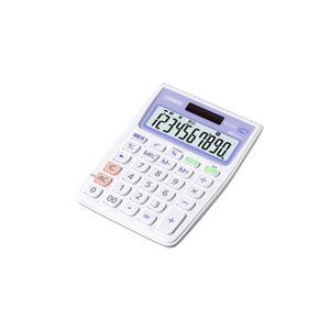 (まとめ)カシオ 抗菌電卓 ミニジャストタイプ10桁 MW-102CL-N 1台【×5セット】