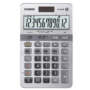 カシオ 本格実務電卓日数&時間計算 12桁 JS-20DB-N 1台