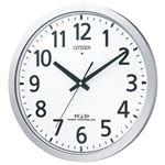 シチズン 電波掛時計シルバーメタリック(白) 8MY462-019 1台