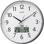 シチズン 環境目安表示付電波掛時計シルバーメタリック 4FY621-019 1台