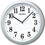 (まとめ)セイコークロック 電波掛時計KX379S 1台【×2セット】