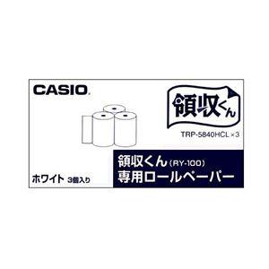 (まとめ)カシオ 電子レジスター用 ロールペーパー紙幅58mm TRP-5840HCL*3 1パック(3個)【×5セット】