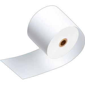 (まとめ)TANOSEE サーマルレジロール紙ノーマル保存 幅80mm×長さ63m 直径71mm 芯内径12mm 1パック(3巻)【×10セット】