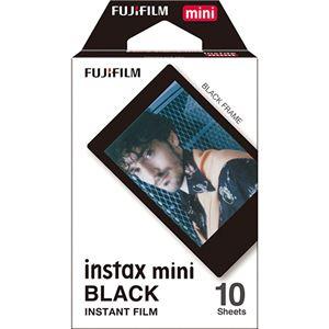 (まとめ)富士フイルム チェキ用フィルムinstax mini ブラック 1パック(10枚)【×5セット】