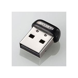 (まとめ)エレコム USB無線超小型LANアダプタ11n・g・b 150Mbps ブラック WDC-150SU2MBK 1個【×5セット】