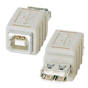 (まとめ)サンワサプライ USBアダプタ(A)メス-(B)メス AD-USB6 1個【×5セット】