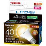 (まとめ)東芝ライテック LED電球ミニクリプトン形 4.2W 2700K E17 小形電球40W形相当 LDA4L-G-E17/S/40W 1個【×3セット】
