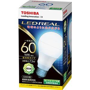 (まとめ)東芝ライテック LED電球 一般電球形60W形相当 7.3W E26 昼白色 LDA7N-G/60W 1個【×5セット】