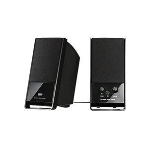 (まとめ)サンワサプライ マルチメディアスピーカーブラック MM-SPL3BK 1台【×3セット】