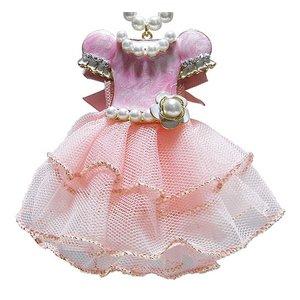 大人可愛い♪ドレスアップチャームネックレス/ピンク