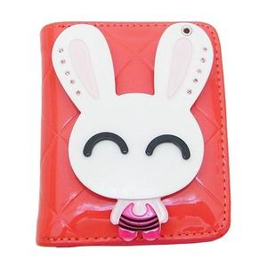 スライドミラー付二つ折り財布/ピンク