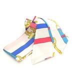 シルクのような美しい光沢が魅力のリボンスカーフ/ベルト(ホワイト)