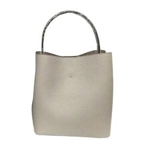 柔らか素材のダブルポケット2wayトート【Sサイズ】 グレイ
