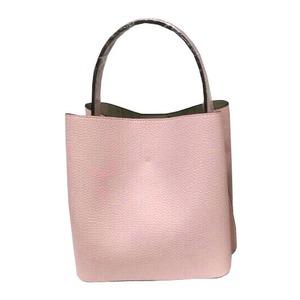 柔らか素材のダブルポケット2wayトート【Mサイズ】 ライトピンク