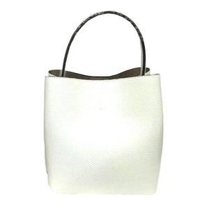 柔らか素材のダブルポケット2wayトート【Lサイズ】 アイボリー