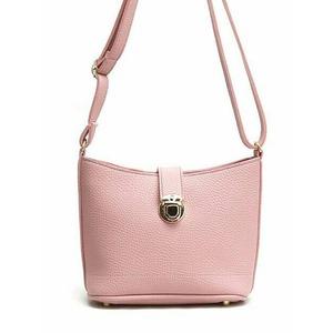 ストラップを短くすればハンドバッグにも♪2Wayショルダーバッグ/ピンク