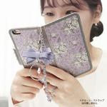 MrH(ミスターエイチ)スマホウォレットケース/ガーデンエイジ・ヴァイオレットBy iphone8
