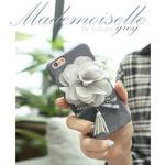 MrH(ミスターエイチ)スマホスキニーケース/マドモアゼル(グレイ)ByGalaxyS8