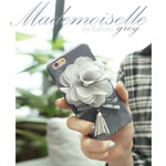 MrH(ミスターエイチ)スマホスキニーケース/マドモアゼル(グレイ)ByGalaxyS9plus