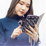 MrH(ミスターエイチ)スマホウォレットケース/ジオンサファイアByiphone7plus