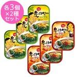 【韓国食品・おかず缶詰】センピョお母さんの味「エゴマの葉キムチ 辛口3個+さっぱり味3個 セット」